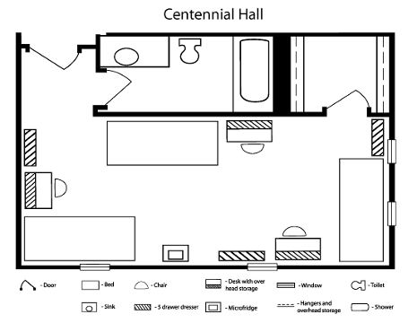 Centennial Hall Floorplan