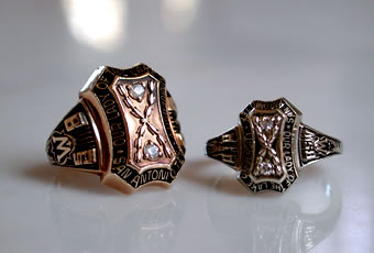 OLLU female and male class rings