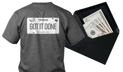 Get it done shirt and cash