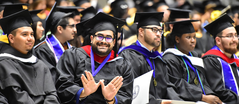 Male student at graduation